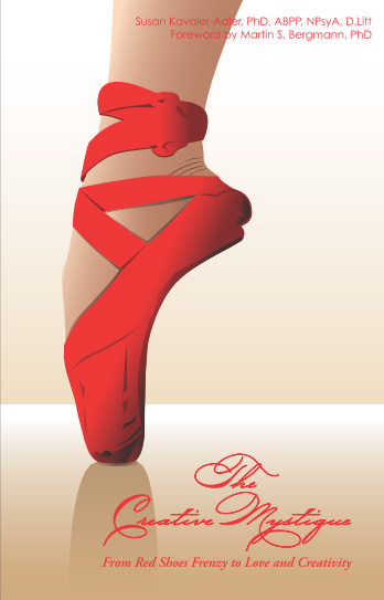 Cover image of the book 'The Creative Mystique From Red Shoes Frenzy to Love and Creativity'